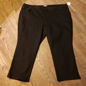 Woman within black jeans.  Size 32w